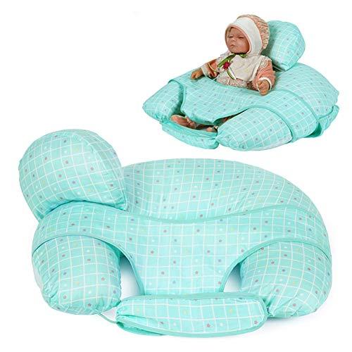 WANGXN Oreiller d'allaitement avec Mini Oreiller Gratuit et Oreiller d'allaitement pour Harnais pour bébé,Blue
