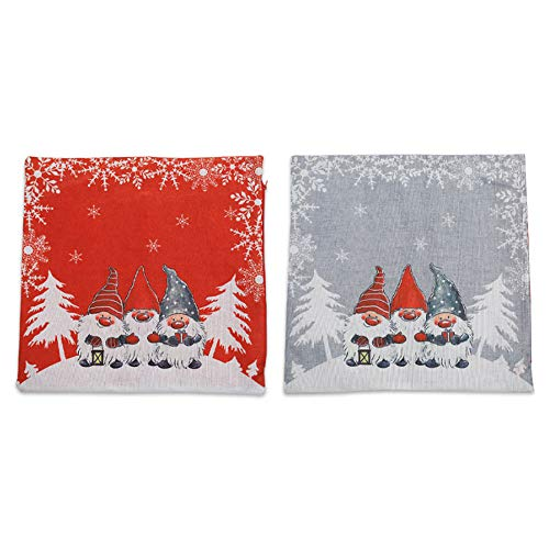 SANGDA Christmas Pillow Covers, Modern Santa Clause Pillow Case Red Gray Christmas Tree Print Pillowcases Pillow Shams Cases Slipcovers for Sofa Bed Couch Winter Holiday Decor