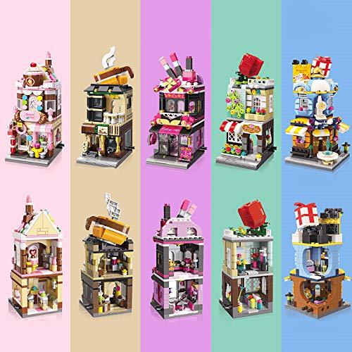 AEM Friends Stores Bloques Juguetes para niñas Niños Tiendas callejeras Bloqueo de Ladrillos de construcción para niños Juego de Bricolaje, Makeup-withbox