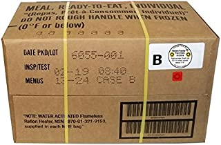 MRE 2019 Inspection Date Case, 12 Meals with 2019 Inspection Date, 2016 Pack Date. Military Surplus Meal Ready to Eat. (B-...