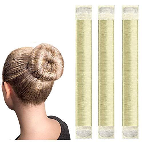 Original Dutt Hair Bun Maker Hilfe für lange und kurze Haare geeignet - 3x Set (blond)