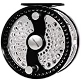CHANNELMAY Classic Fly Fishing Reel 7/9 WT CNC Machined Aluminum Large Arbor Disc Drag System Salmon Fishing (Left)
