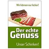 Schinken-Plakat für Fleischerei-Werbung DIN A1,