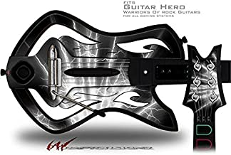 Lightning White Decal Style Skin - fits Warriors Of Rock Guitar Hero Guitar (GUITAR NOT INCLUDED)