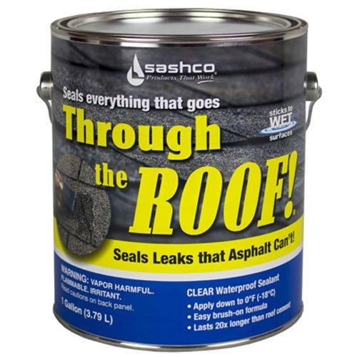 Sashco 14004 Gallon Clear Roof Sealant