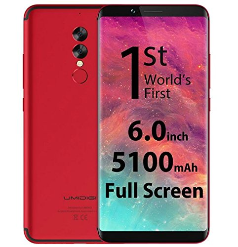 UMIDIGI S2-6 Zoll (18: 9) Vollbild Android 4G Smartphone, Helio P20 2.3GHz Octa Core 4 GB RAM + 64 GB ROM, Dual Rückfahrkamera 5100mAh Akku - Rot