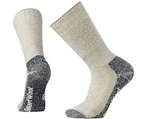 Smartwool Mountaineering Crew Socks - Men's Extra Heavy Cushioned Wool Performance Sock (TAUPE, L)
