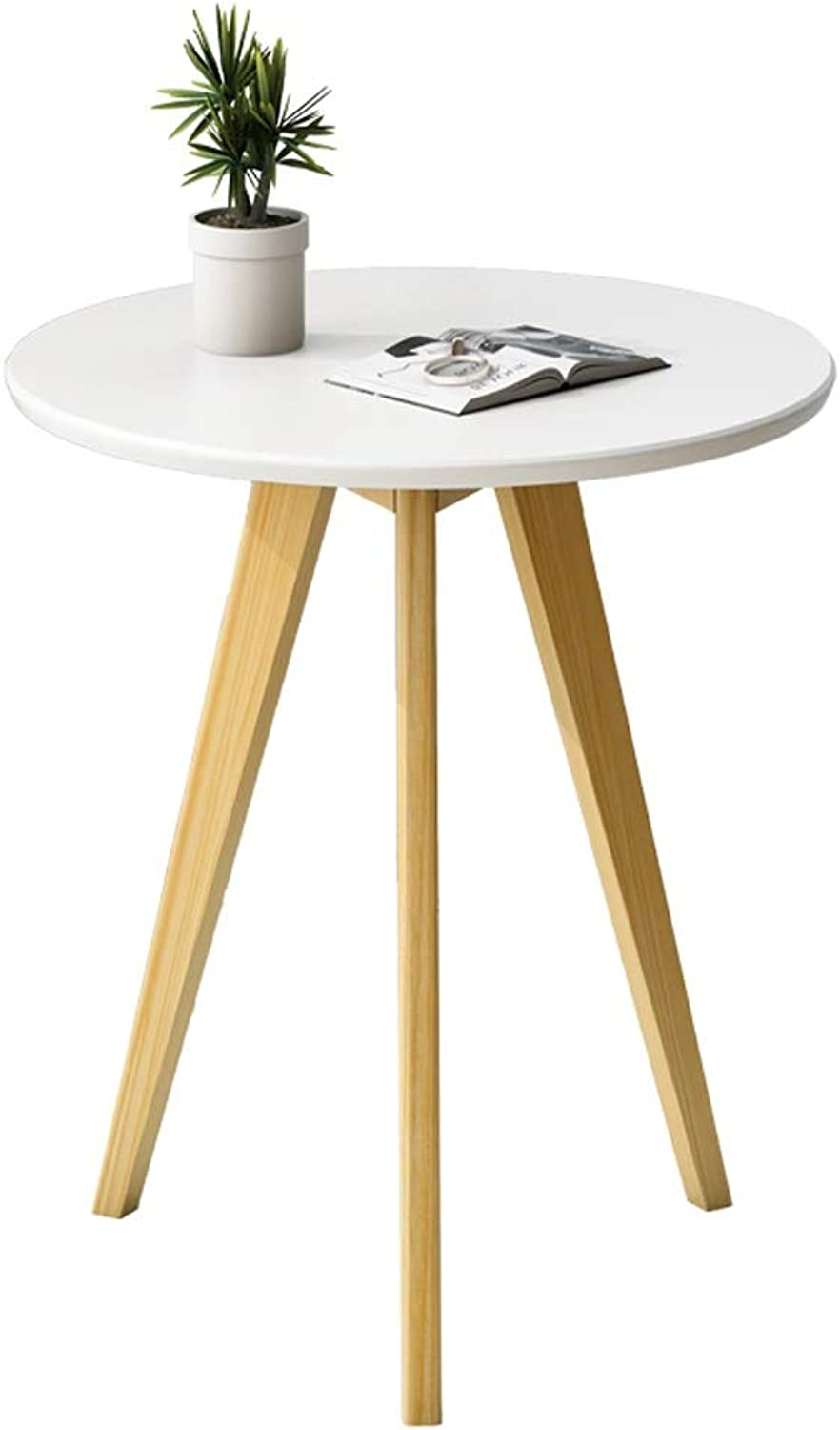 Nordic Coffee Table Simple Living Room Sofa Table Small Apartment Balcony Side Table Bedroom Creative Bedside Table Economical Small Table == (color   White, Size   50x60cm)