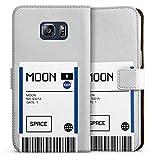 DeinDesign Étui Compatible avec Samsung Galaxy S6 Edge Plus Étui Folio Étui magnétique NASA...