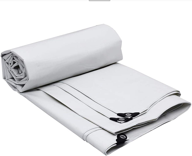 YD Tarp Rainproof Cloth Tarp, MultiPurpose Waterproof Poly Tarp Cover, 18  12ft Sunshade Tarpaulin, Sun Predection, AntiAging, Easy to fold Cover White (Size   5  4m)
