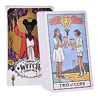 現代の魔女オラクルカード78Pcsタロットデッキオラクルカード英語PDF命令表のデッキボードゲームパーティーカードゲーム党ファミリーゲームを遊びます