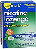 Sunmark Nicotine Polacrilex Lozenge 2 mg Mint - 72 ct, Pack of 2