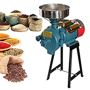 Electric Grain Mill, 3000W 110V Mill Grinder Heavy Duty Grain Grinder Commercial Electric Feed Mill Dry Cereals Grinder…