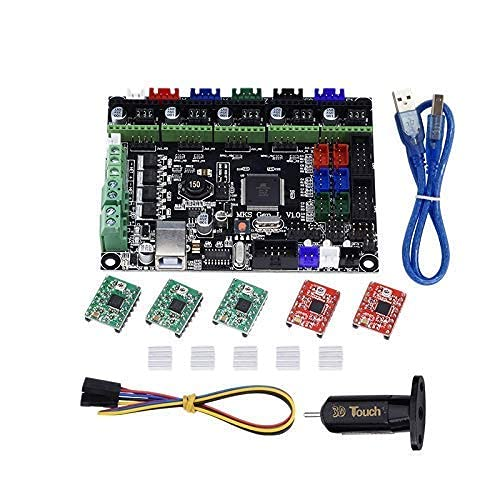JRUIAN Printer Accessories DODOYA 3D Printer Kit MKS GEN L Integrated Mainboard A4988 Driver+3D Contact BLContact Sensor for TEVO Tarantula Tornado 3D Printer DIY Parts