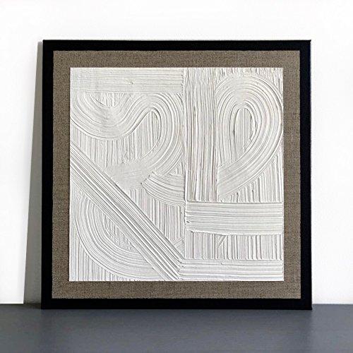 Weisse Landschaft- Acryl Gemälde auf Leinwand- Struktur mit Spachtelmasse- Abstrakte Malerei- Unikat.