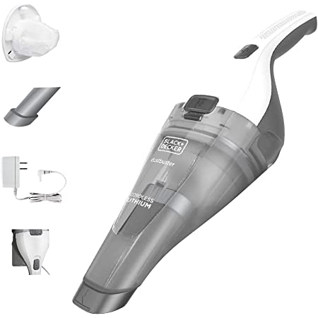 BLACK+DECKER Dustbuster Handheld Vacuum, Cordless, White (HNVC215B10)