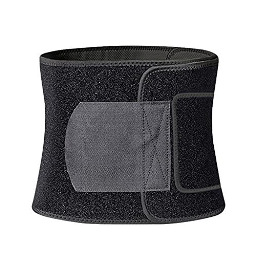WCN Faja Lumbar Trainer de Cintura para Las Mujeres Cinturón de Sudor Mujeres Pérdida de Peso Banda de Vientre Cuerpo Shaper Sports Fordos Faja (Color : Black, Thesizeoflabels : Large)