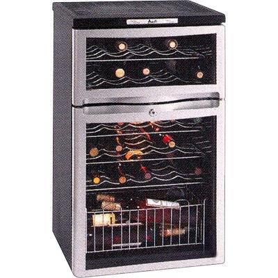 Avanti WC330DZB 28 Bottle Dual Zone Wine Refrigerator