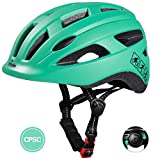 TurboSke Toddler Bike Helmet, CPSC Certified Multi-Sport Adjustable Helmet for Kids Boys and Girls Age 3-5 (Mint Blue)