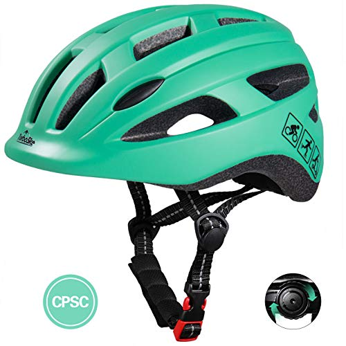 TurboSke Toddler Bike Helmet, CPSC Certified Multi-Sport Adjustable Helmet for Kids Boys and Girls Age 3-5 (Mint Blue)