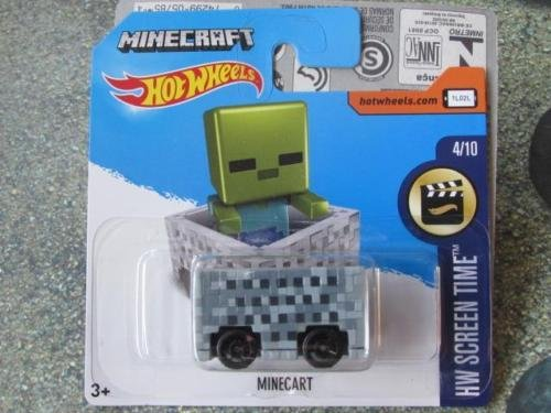 Hot Wheels 2017 HW Screen Time Minecraft Minecart 24/365 (Short Card)