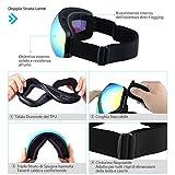 Zoom IMG-1 topelek occhiali da sci adulti