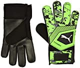 Puma One Grip 4 Guantes De Portero, Hombre, Black/Charcoal Gray/Green Gecko, 11