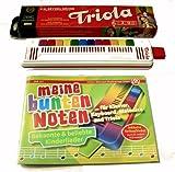 TRIOLA 12 die beliebte Blasharmonika mit farbigen Tasten für Kinder
