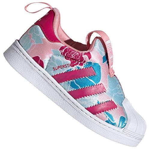 adidas Originals Superstar 360 - Zapatillas de deporte para bebé, diseño de flores, talla 19, color Rosa, talla 19 EU