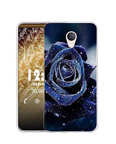 Sunrive Funda Compatible con Meizu M3 Note, Silicona Slim Fit Gel Transparente Carcasa Case Bumper de Impactos y Anti-Arañazos Espalda Cover(Q Rosa 2)