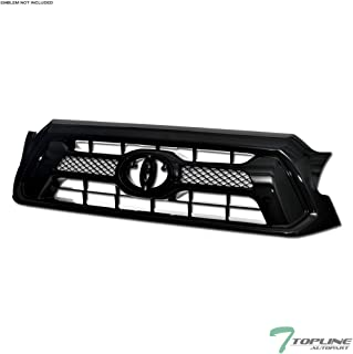 Topline Autopart Black OE Mesh Front Hood Bumper Grill Grille ABS For 12-15 Toyota Tacoma