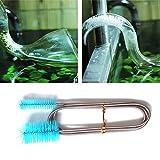 Cepillo de limpieza de tubos de acero inoxidable Cepillo de limpieza de un solo extremo Flexible para acuario Tanque de peces Bomba de filtro Manguera Limpiador de cepillos para tubos - Verde 200CM