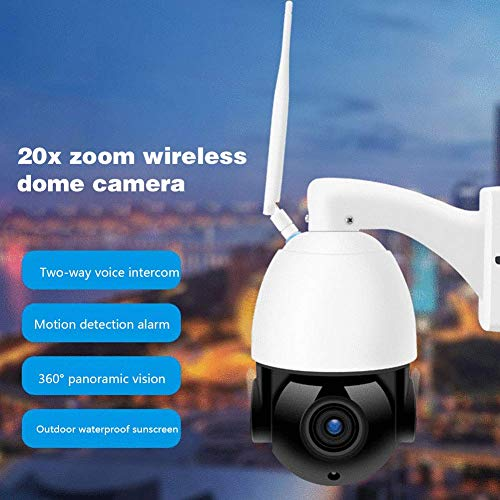 FACAIA Security Camera System White 20x Zoom PTZ PTZ Outdoor...