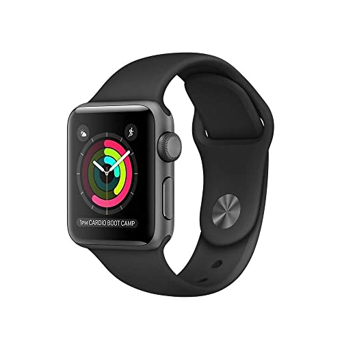 c9883bc40 Apple Watch Series 2 Smartwatch 42mm Space Gray Aluminum Case, Black Sport  Band (Refurbished