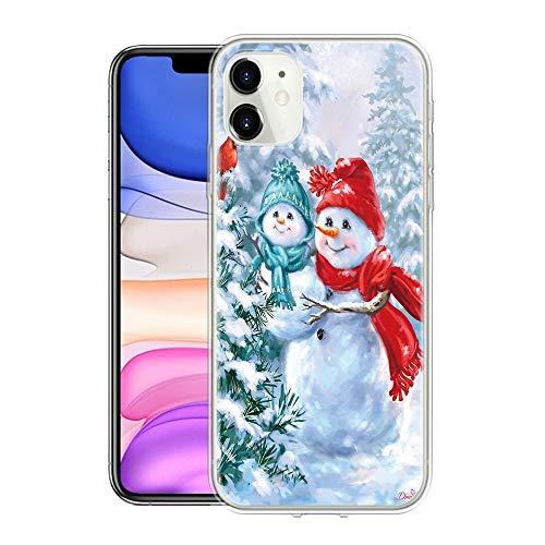 Pnakqil Funda para Xiaomi Redmi Note 8 Pro Transparente Silicona con Dibujos Carcasa Piel Gel TPU Suave Case Antigolpes Protectora Case Cover para Xiaomi Redmi Note8 Pro, Navidad 03