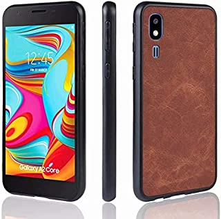 For Samsung Galaxy A2 Core Ultra Thin PU Leather Case, Retro Style PC + Soft TPU Phone Case Cover for Samsung Galaxy A2 Co...