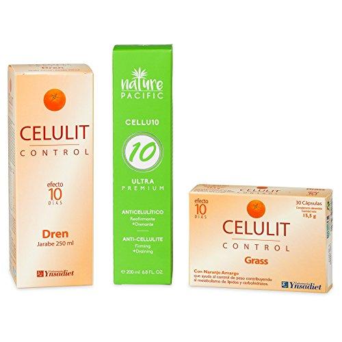 Anticelulitico – Pack Anti Celulitis – Crema Celulitis, Antiestrias - Jarabe Drenante Circulatorio (plan de choque celulitis) – Capsulas Quemagrasas anti-celulitis, Soluciona tu celulitis en 10