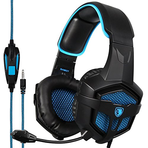 SADES SA807PLUS Stereo Gaming Headset Noise Cancelling Over Ear Headphones with Mic, Bass...