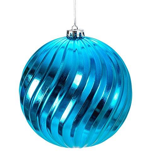 Lifestyle & More Palle di Natale Grandi Set di Palline di Natale con 4 Pezzi di Colore Blu Turchese...
