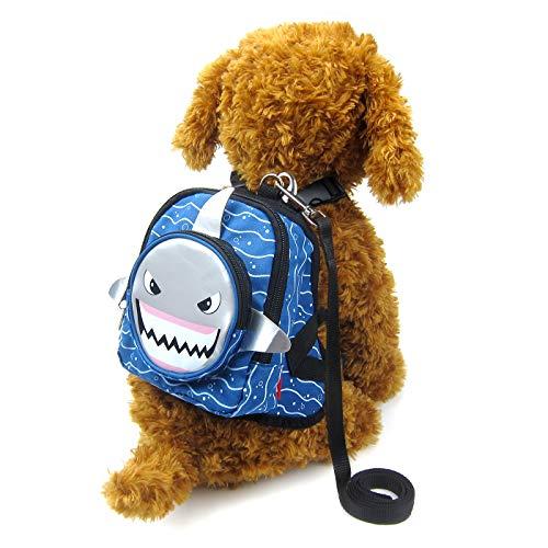 Alfie Pet - Oliga Backpack Harness with Leash Set - Color: Grey Shark, Size: Medium