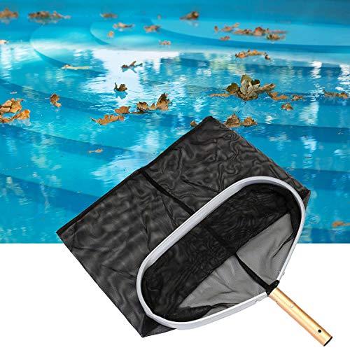 HelloCreate Laubkescher, Schwimmbadlaubkescher mit tiefer Tasche, feines Netz, Laubbesen für Pool-Teichreinigung