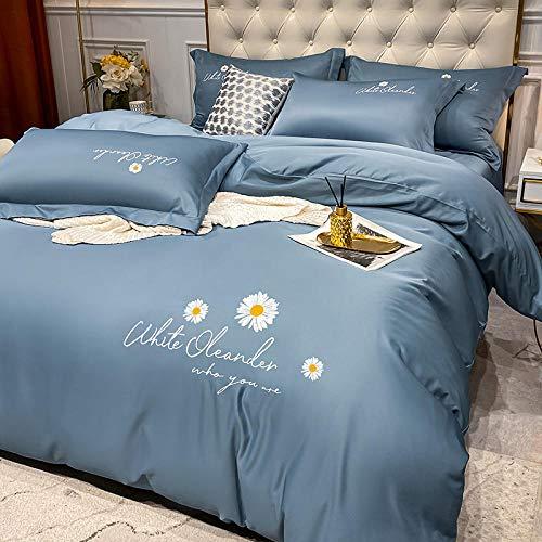 Bedding Juego de Funda de Edredón,Set de sábana tamaño king-4 pieza Super suave cepillado microfibra hotel lujo hoja egipcia transpirable, arruga, conjuntos de lecho resistente a la cama-J_Cama de 2.