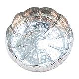 Orientalisches rundes Tablett Schale aus Metall 20cm groß Silber   Orient Dekoschale mit hohem Rand   Marokkanisches Serviertablett Rund   Orientalische Silberne Deko auf dem gedeckten Tisch - 4