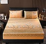 XLMHZP - Coprimaterasso matrimoniale in tinta unita, trapuntato, impermeabile, con angoli elasticizzati, per materasso spesso e morbido, per letto da 200...