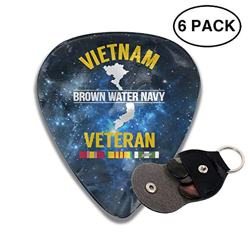 Brown Water Navy Vietnam Sampler Guitar Picks - 6 Pack Unique Accessory For Guitar Player Best Gift For Guitarist
