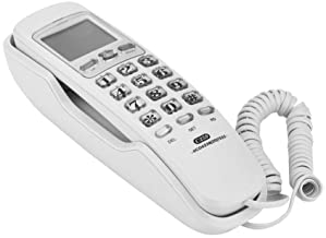 $22 » Bindpo Corded Telephone, Wired Wall Mounted Call ID Landline Phone with One-Button Redial, Thundering Protection and Noise...