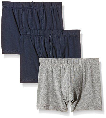 NAME IT NAME IT Baby-Jungen NITTIGHTS K B NOOS Unterhose, Mehrfarbig (Grey Melange), 128 (Herstellergröße: 122-128) (3er Pack)