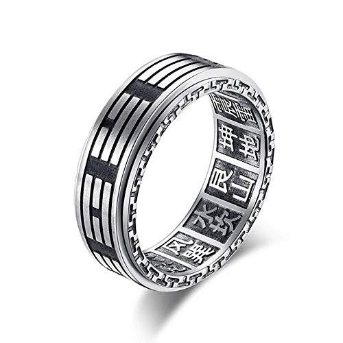 ZiFei Ringe, Vintage Klatsch Ring für Männer Junge Edelstahl Yin Yang Ringe Chinesisch Stil Taoismus Tai Chi Finger Männlichen Schmuck,6