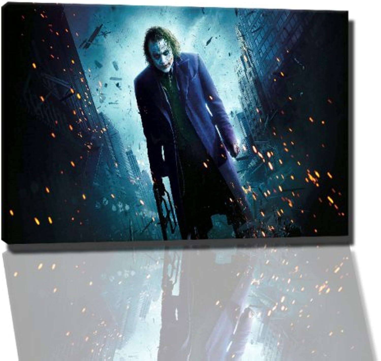 Joker Bild auf Leinwand Leinwand Leinwand -- 120x80 cm fertig gerahmte Kunstdruckbilder als Wandbild - Billiger als Ölbild oder Gemälde - KEIN Poster oder Plakat B00FF2Q61K eed91c