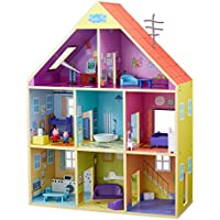 Peppa Pig- Casa Gigante De Madera, Multicolor (Bandai CO07004)